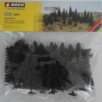 NOCH 32820 Fir Trees 3.5cm - 9cm (25) 'N' Gauge