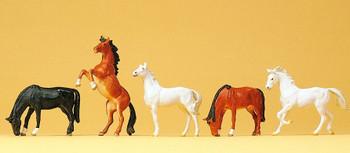 PREISER 10156 Horses (5) 00/HO