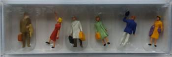 PREISER 14020 Passengers Walking 00/HO Model Figures