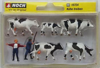 NOCH 15724 Drover & Cows 'HO' Model Figures