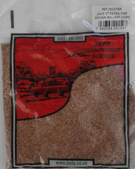 JXGSTBR Brown Ballast Chippings 100g - Extra Fine
