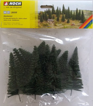 NOCH 26930 Fir Trees With Planting Pin  5cm - 14cm (10) 00/HO Gauge