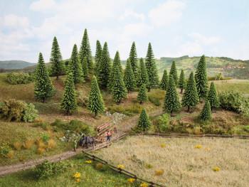 NOCH 32925 Spruce Trees 3.5cm - 9cm (10) 'N' Gauge