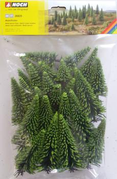 NOCH 26825 Spruce Trees 5cm - 14cm (25) 00/HO Gauge