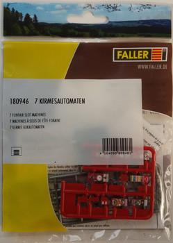 FALLER 180946 Funfair Slot Machines (7) 00/HO Model Kit