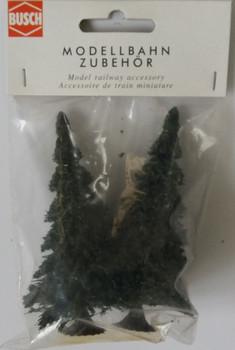 BUSCH 6103 Fir Trees (2) 90mm Tall 00/HO