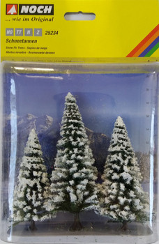 NOCH 25234 Snow Fir Trees (3) 8cm - 12cm 00/HO/N
