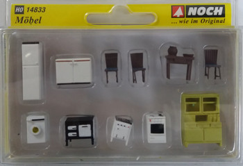 NOCH 14833 Furniture 00/HO Model Accessories