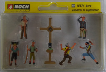 NOCH 15874 Mountain Hikers With Cross 00/HO Model Figures