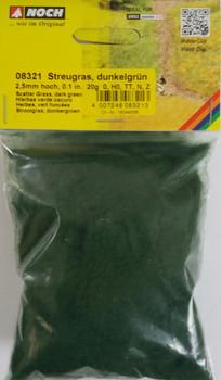 NOCH 08321 Static Grass 2.5mm Dark Green 20g