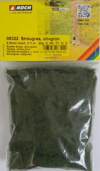 NOCH 08322 Static Grass 2.5mm Olive Green 20g