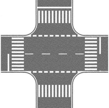 NOCH 60714 Self Adhesive Grey Crossing With European Markings 00/HO