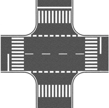 NOCH 60712 Self Adhesive Asphalt Crossing With European Markings 00/HO