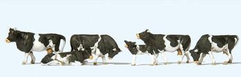 PREISER 10145 Cows With Black Markings 00/HO