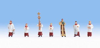 NOCH 15410 Priests & Alter Servers 00/HO Model Figures