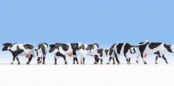 NOCH 15725 Black & White Cows 00/HO Model Animals