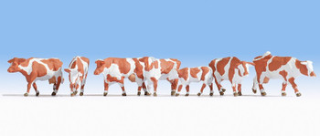 NOCH 15726 Brown & White Cows 00/HO Model Animals