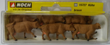 NOCH 15727 Brown Cows 00/HO Model Animals