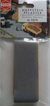 BUSCH 7079 Paved Street (Self Adhesive) 1m x 40mm 'N' Gauge