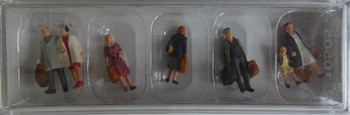 PREISER 10505 Walking Passengers 00/HO Model Figures