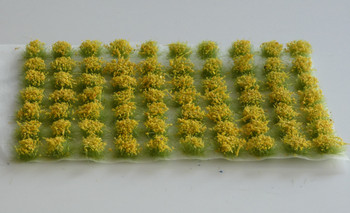 HSS 0405 - Self Adhesive 'Broom Yellow' Flowered Grass Tufts