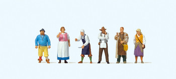 PREISER 24761 Medieval Festival 00/HO Model Figures