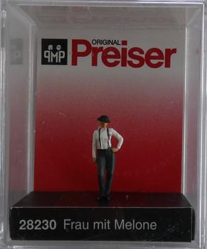 PREISER 28230 Woman In Bowler Hat 00/HO Model Figure