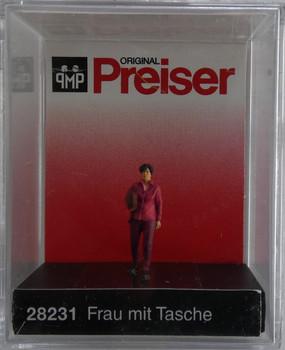 PREISER 28231 Woman With Bag 00/HO Model Figure