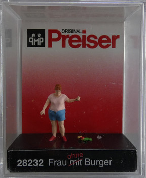 PREISER 28232 Woman Without Burger 00/HO Model Figure