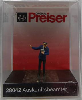 PREISER 28042 Inquiry Clerk 00/HO Model Figure