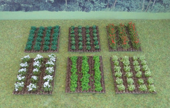 HSS VPSET1 Assorted Vegetable/Fruit Patches x 6 00/HO Gauge