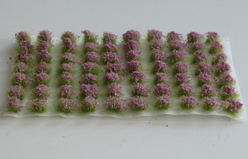 HSS 0403 - Self Adhesive 'Signal Violet' Flowered Grass Tufts