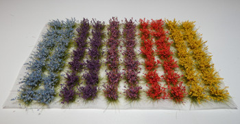 HSS 1010 - Self Adhesive Large 'Mixed Colour' Wild Grass Tufts  (70)