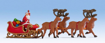 NOCH 15924 Santa Claus With Sleigh 00/HO Model Figure Set
