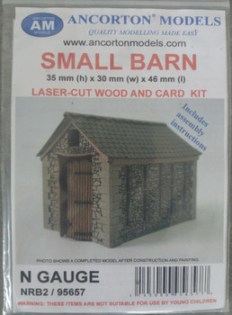 ANCORTON MODELS - Small Barn (Laser Cut Kit) 'N'