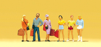 PREISER 10123 Passengers With Teenagers 00/HO Model Figures