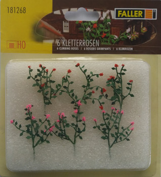 FALLER 181268 Large Climbing Roses (6) 00/HO Model Plants