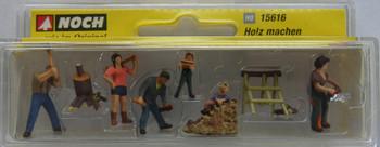 NOCH 15616 Chopping Wood 00/HO Model Figure Set