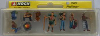 NOCH 15879 Scouts 00/HO Model Figure Set