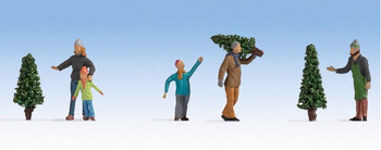 NOCH 15927 Selling Christmas Trees 00/HO Model Figure Set