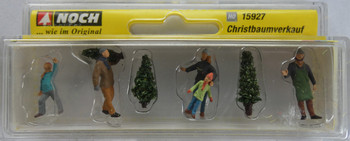 NOCH 15927 Selling Christmas Trees 00/HO Model Figure Set