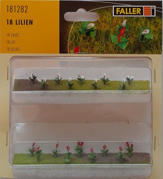 FALLER 181282 Lilies (18) 00/HO Model Plants