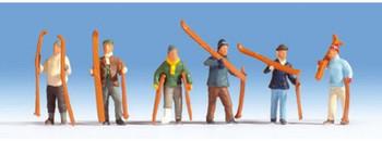 NOCH 15829 Skiers 00/HO Model Figure Set