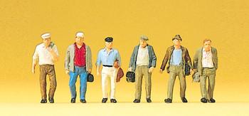 PREISER 10366 Male Commuters 00/HO Model Figures