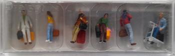 PREISER 10115 Walking Passengers 00/HO Model Figures