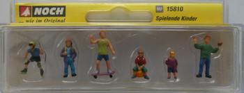 NOCH 15810 Playing Children 00/HO Model Figure Set