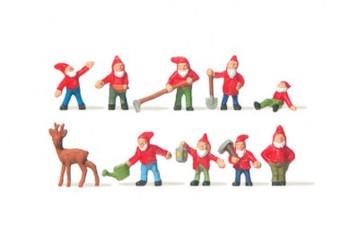 MERTEN 2303 Garden Dwarfs/Elves 00/HO Model Figures