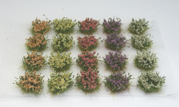 HSS FB20 - Self Adhesive Medium Flowering Bushes (20) Colour Set B