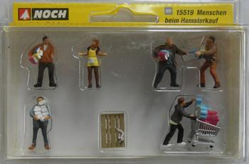 NOCH 15519 Panic Buyers 00/HO Model Figures