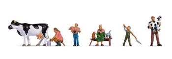 NOCH 15609 Cattle Farm Family 00/HO Model Figures